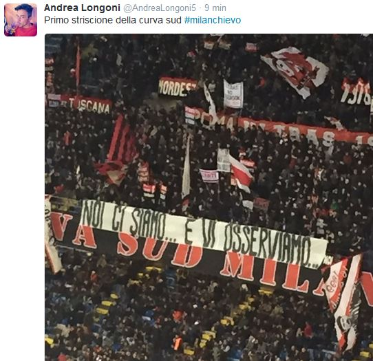 milanchievo tweet curva vicino
