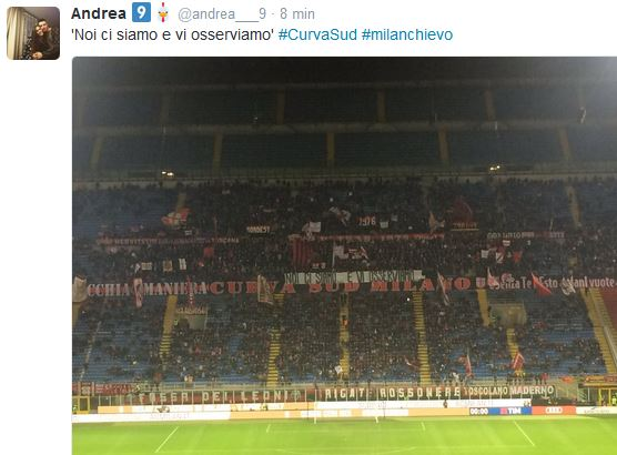 milanchievo tweet curva